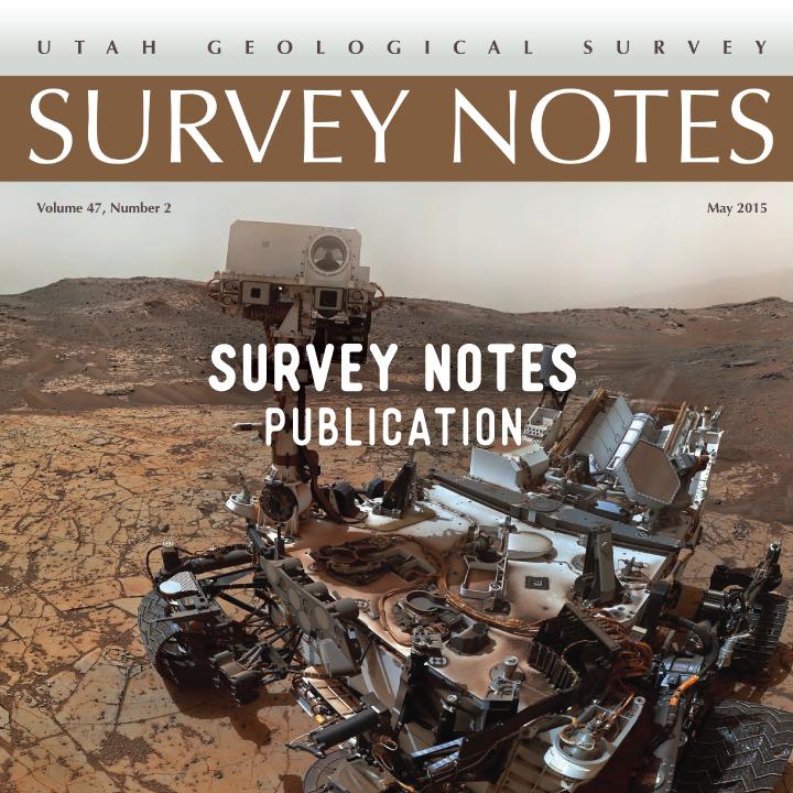 Utah Geological Survey, Survey Notes, Magazine, Publication Design