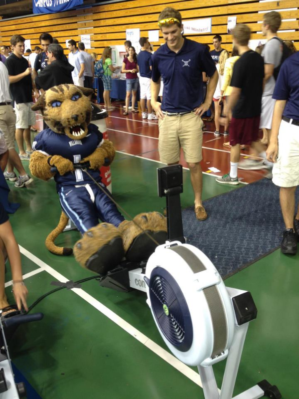 The Villanova Wildcat getting some meters in on the erg