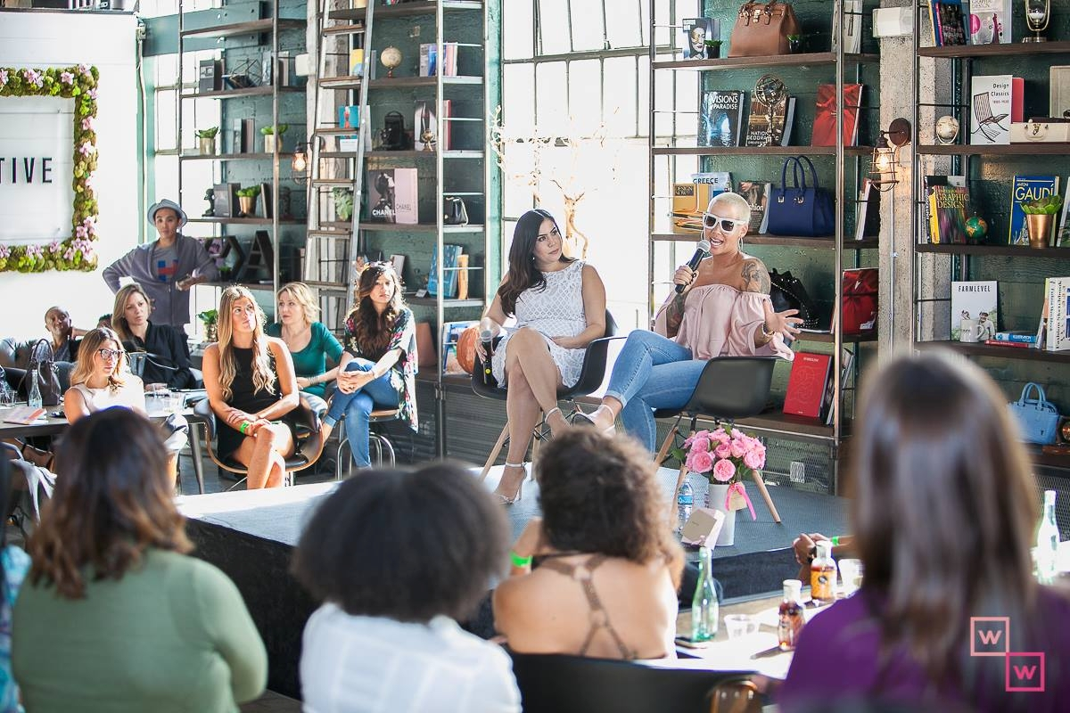 Worthy Women Founder Audrey Bellis with Amber Rose November 2017