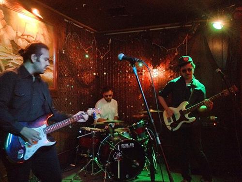 Trabants' 3-piece west coast line-up playing at the Redwood Bar in downtown Los Angeles 12/2014