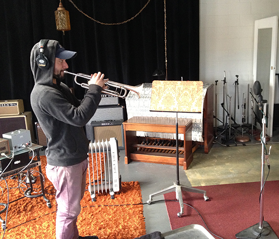 "Bryan Murphy tracking trumpet for the ""Cinematic"" album."