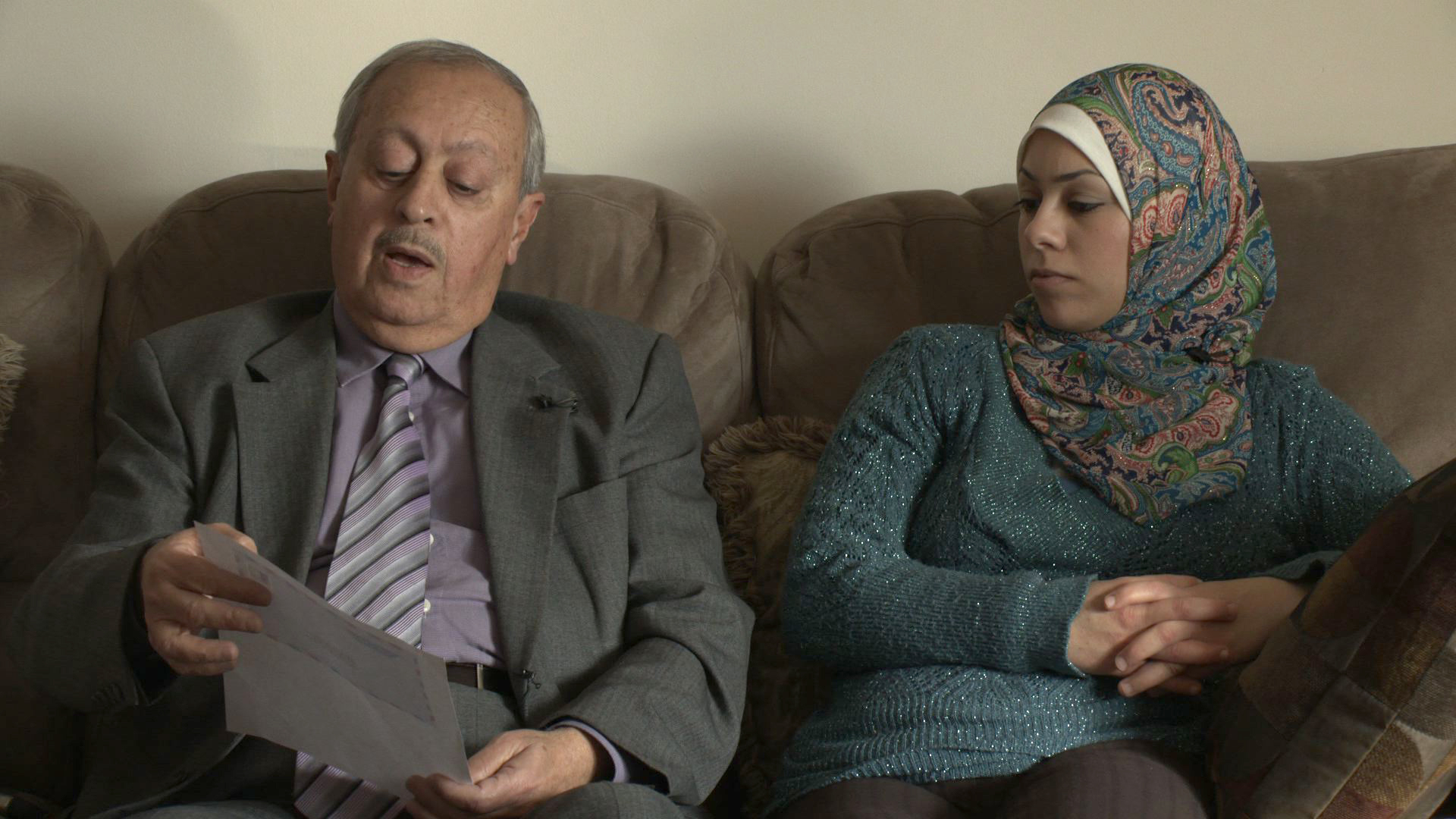Amal Abusumayah and her father