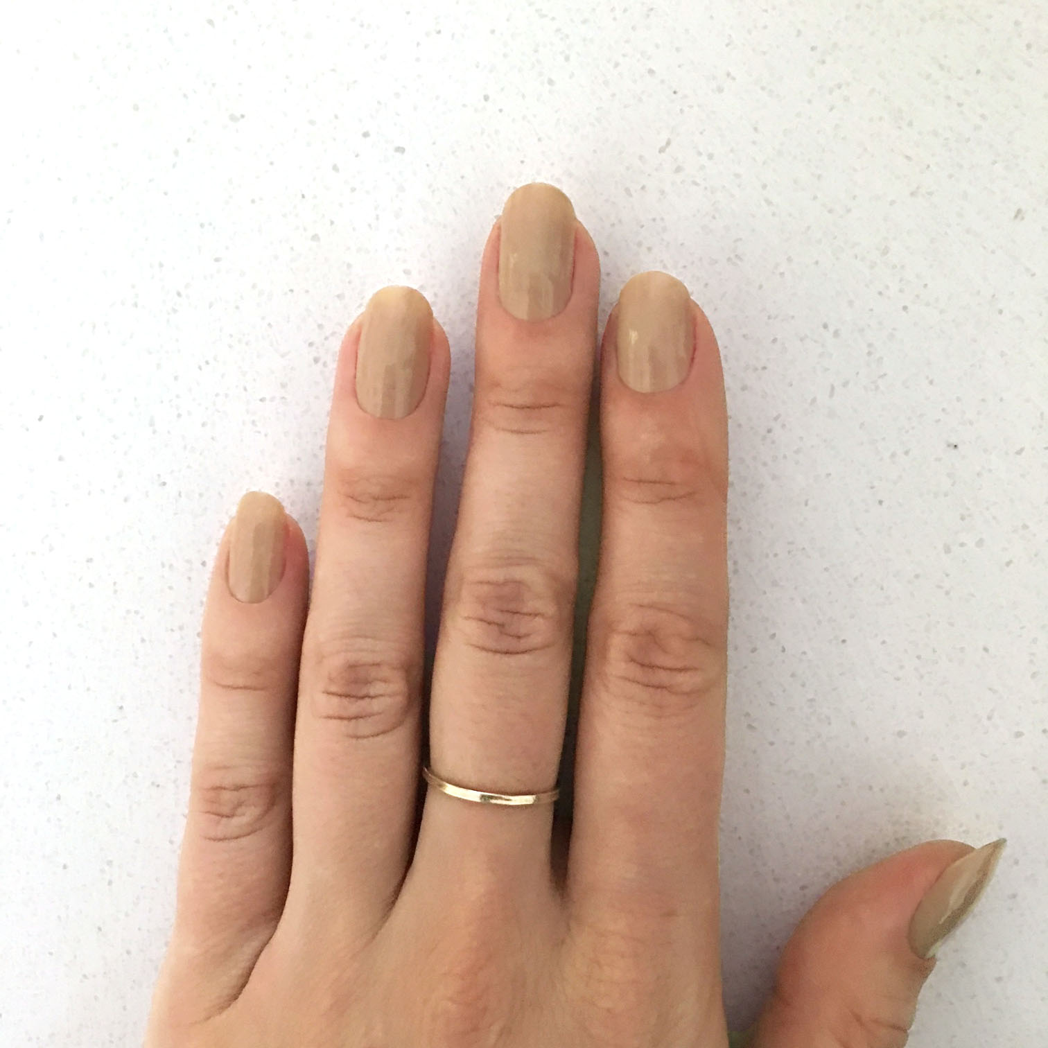 Step 1: Paint 2 coats of Nude.