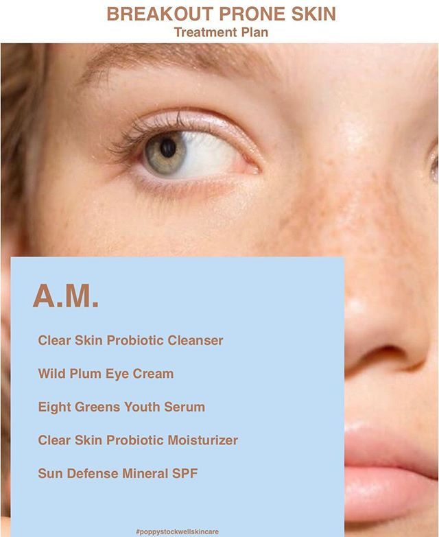 The #TreatmentPlan series continues with a curated list of products and treatments for breakout prone #skin - Tag a friend to share and comment below with questions. We are here to help you get your #glow back 🙋🏻‍♀️ #glowgetter #poppystockwellskincare