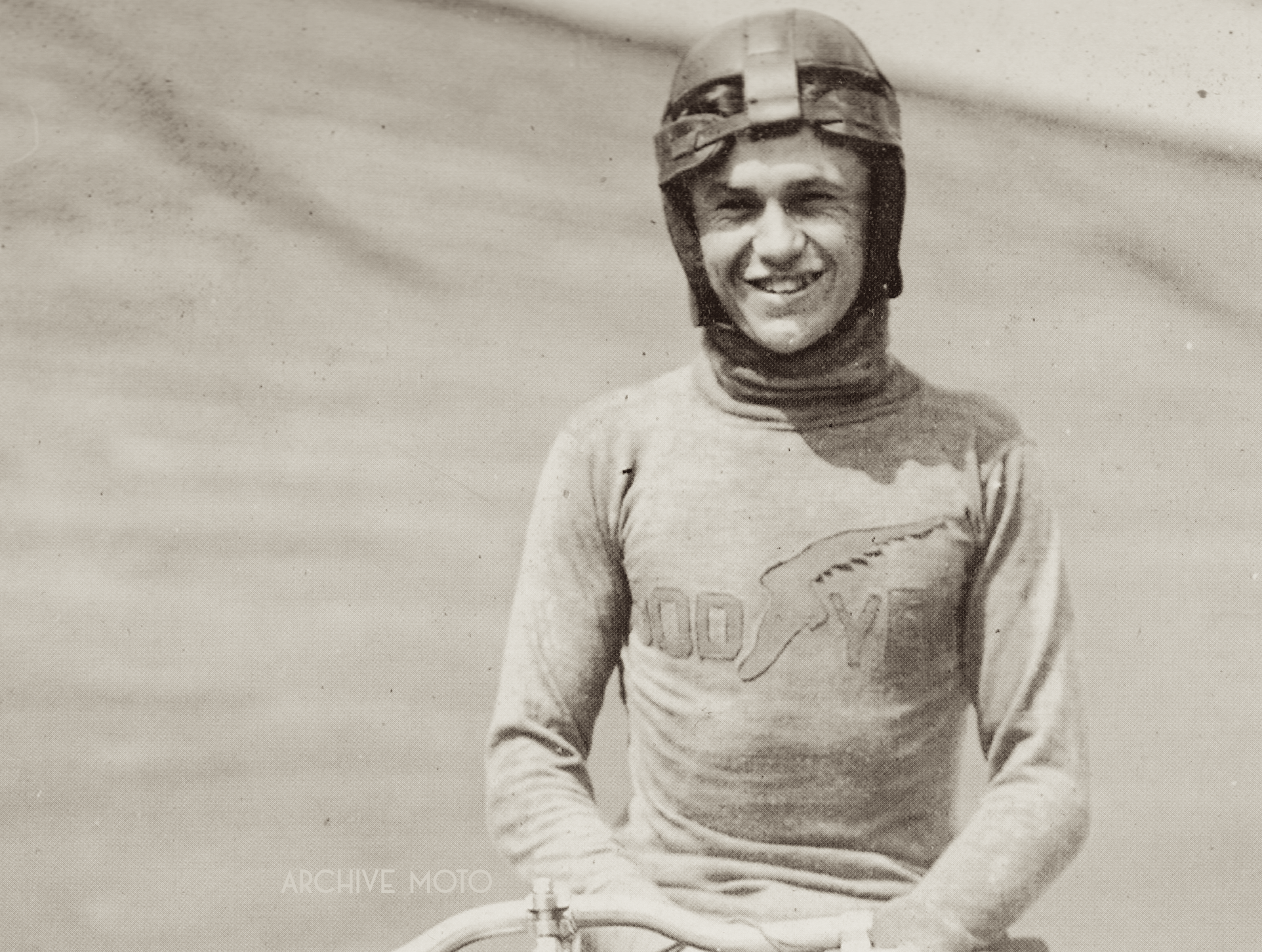 William Edward Hasha sporting a GoodYear racing jersey during the 1912 season.