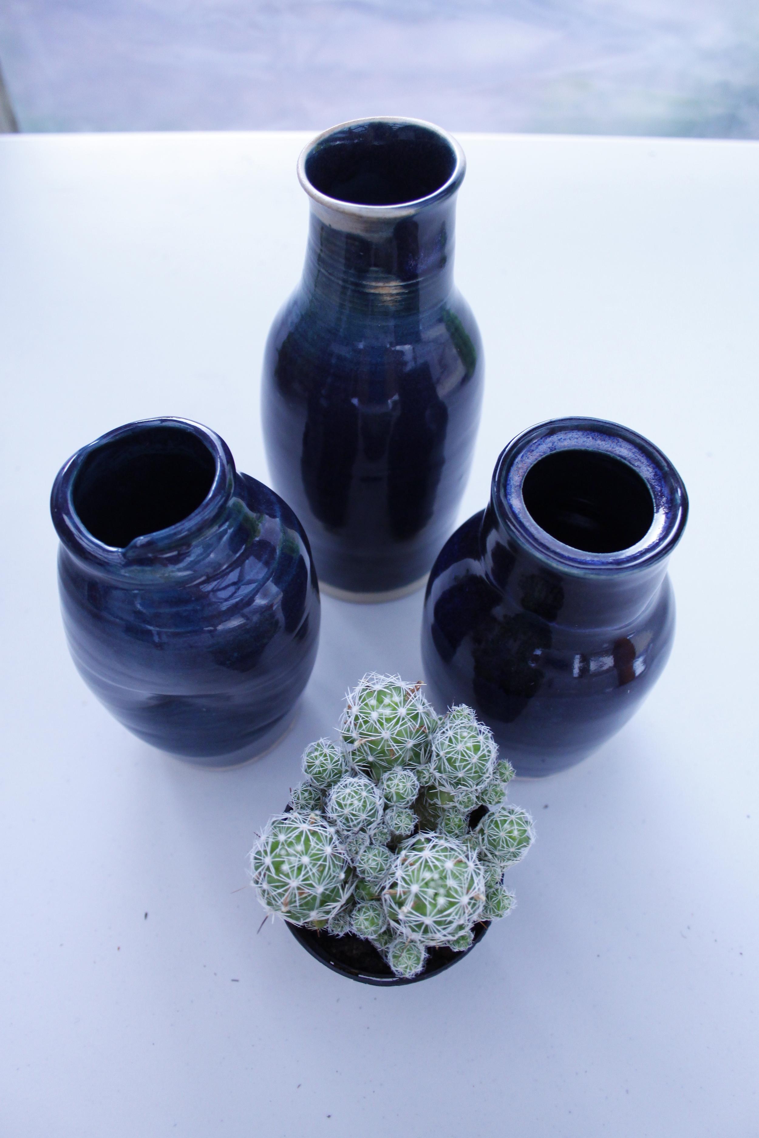Midnight Trio Bottle Set   Stoneware    2014
