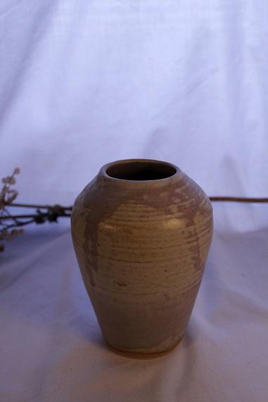 "Smooth Matt Ash Bottle   Stoneware  Height: 5 1/4"" Diameter: 2""  2014"