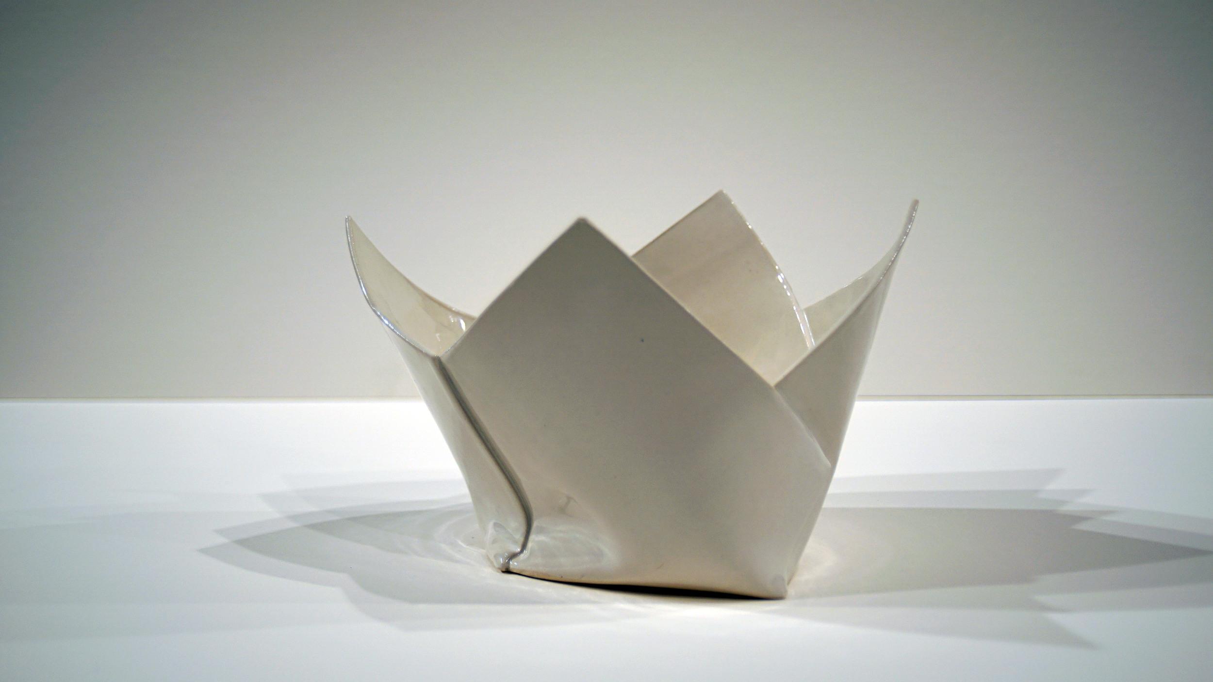 """Four Folds    2015   Porcelain  H. 8.5"""" D. 12.5"""" W. 8"""""""