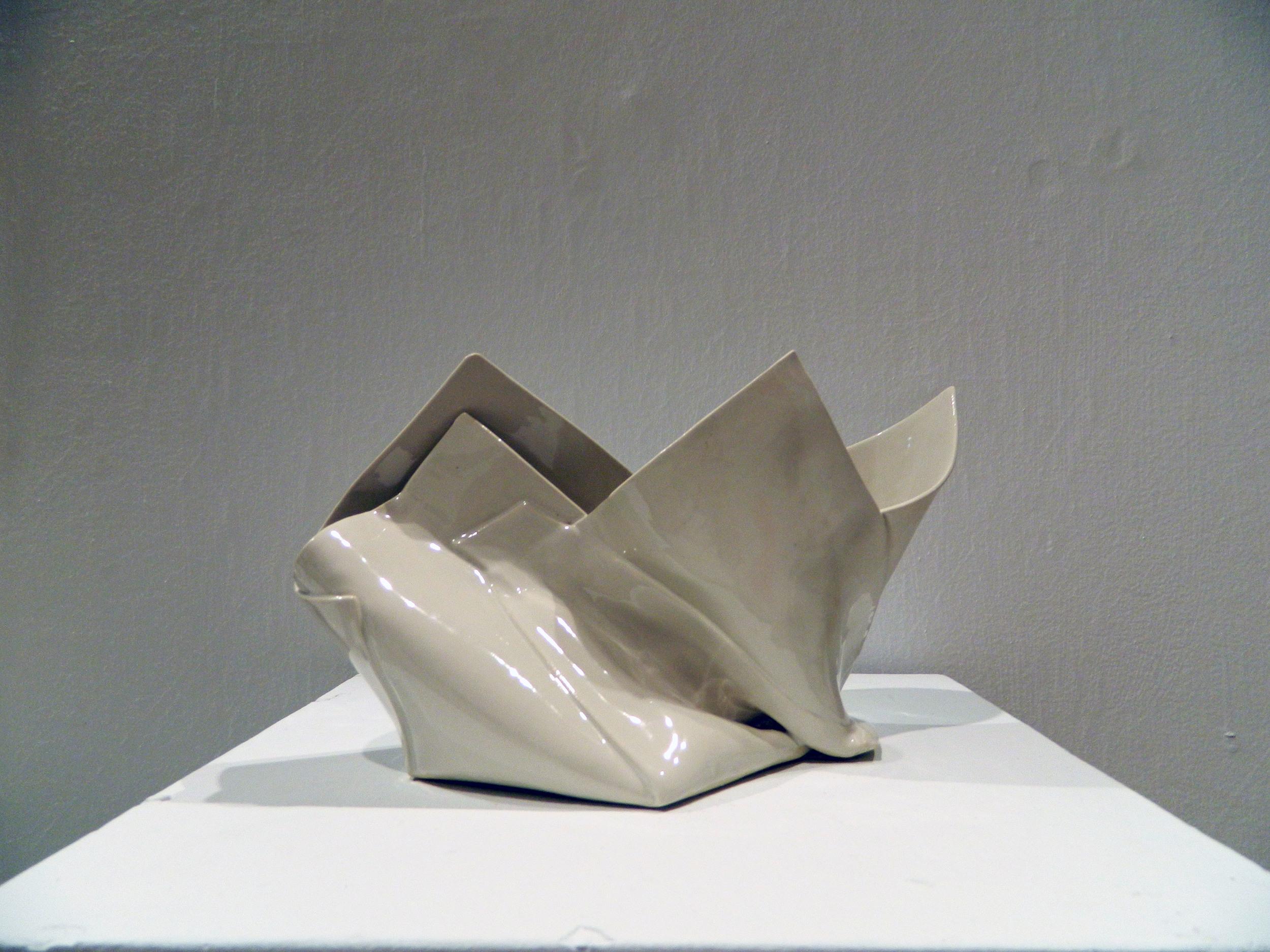 "Twisted Seam   2015  Porcelain  H. 9"" L. 13"" W. 8.5"""