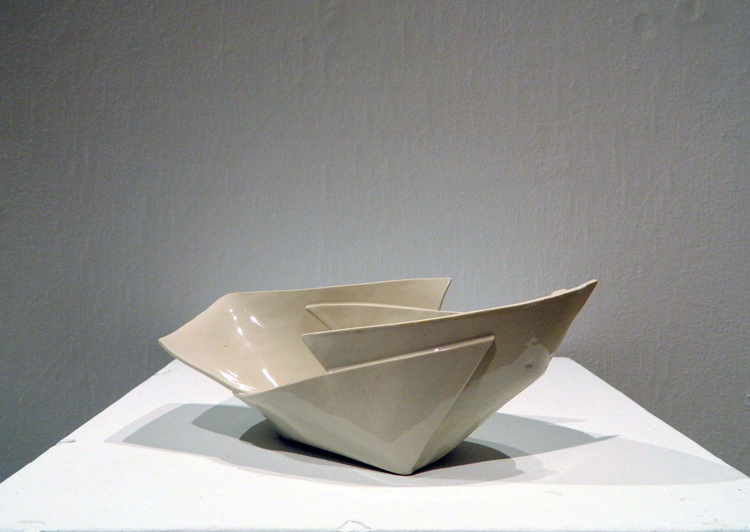 "Four Cuts   2015  Porcelain   H. 7.5"" D. 8"" W. 6"""
