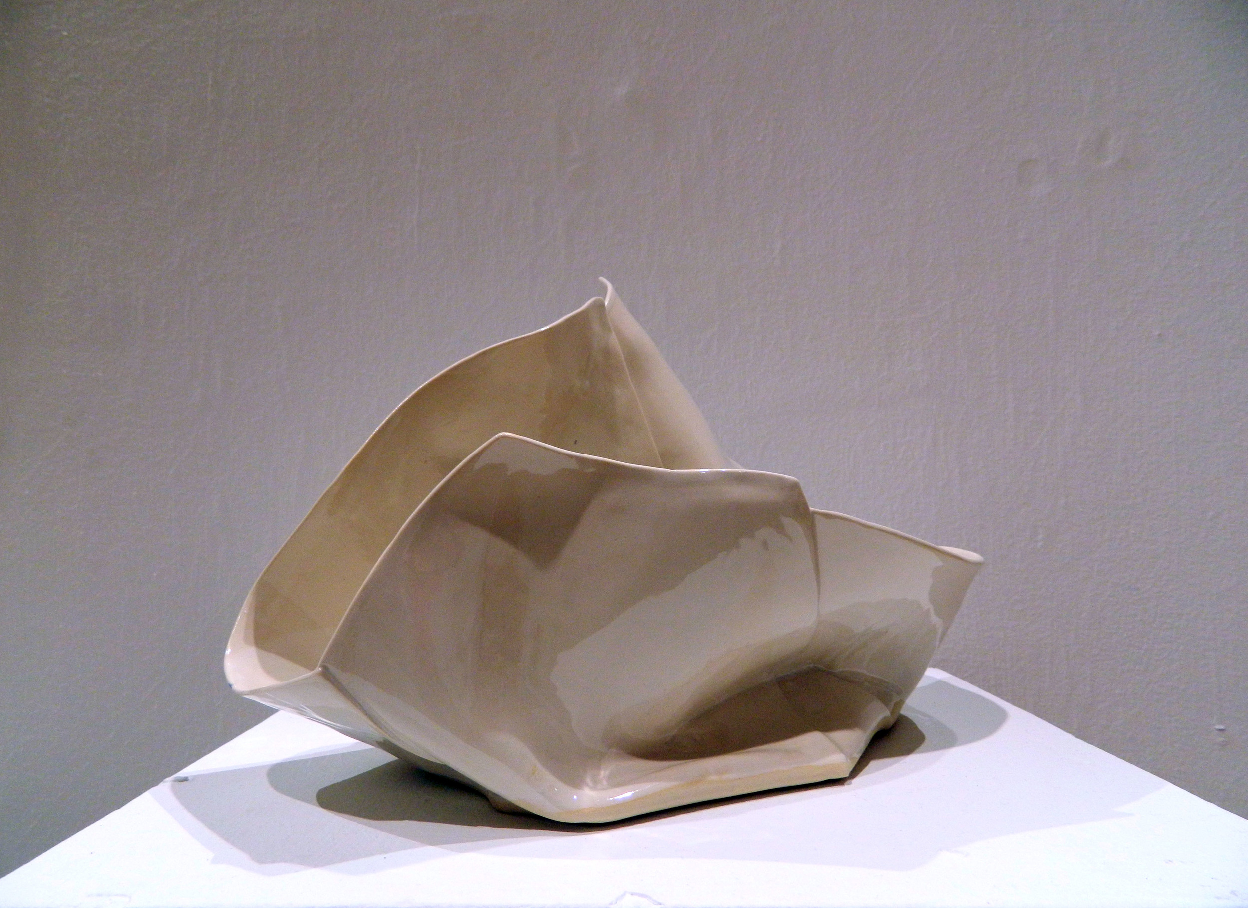 "Draped   2015  Porcelain  H. 7"" L. 12"" W. 5"""