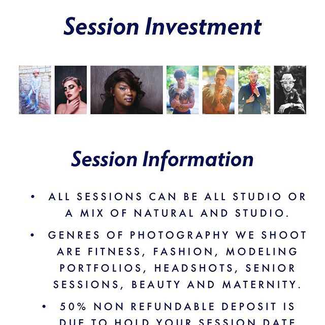Session pricing and details are on my website go to :  http://www.lbphotographs.net/session-pricing for a itemized list of photo-product pricing just ask for my digital pricing menu for prints and other products. Now booking Studio and On-Location Sessions!  LB PHOTOGRAPHY & DESIGN MODERN+ EDGY + SIMPLISTIC  Studio Address: STUDIO #189 1860 Mellwood Avenue  Louisville, KY. 40206 (502) 593-8353 • LOUISVILLE KENTUCKY INFO@LBPHOTOGRAPHS.NET ⤴️⤴️⤴️⤴️