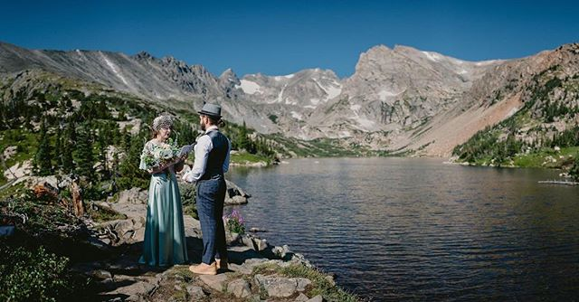 Megan and Rod had a beautiful #elopement in front of the #continentaldivide