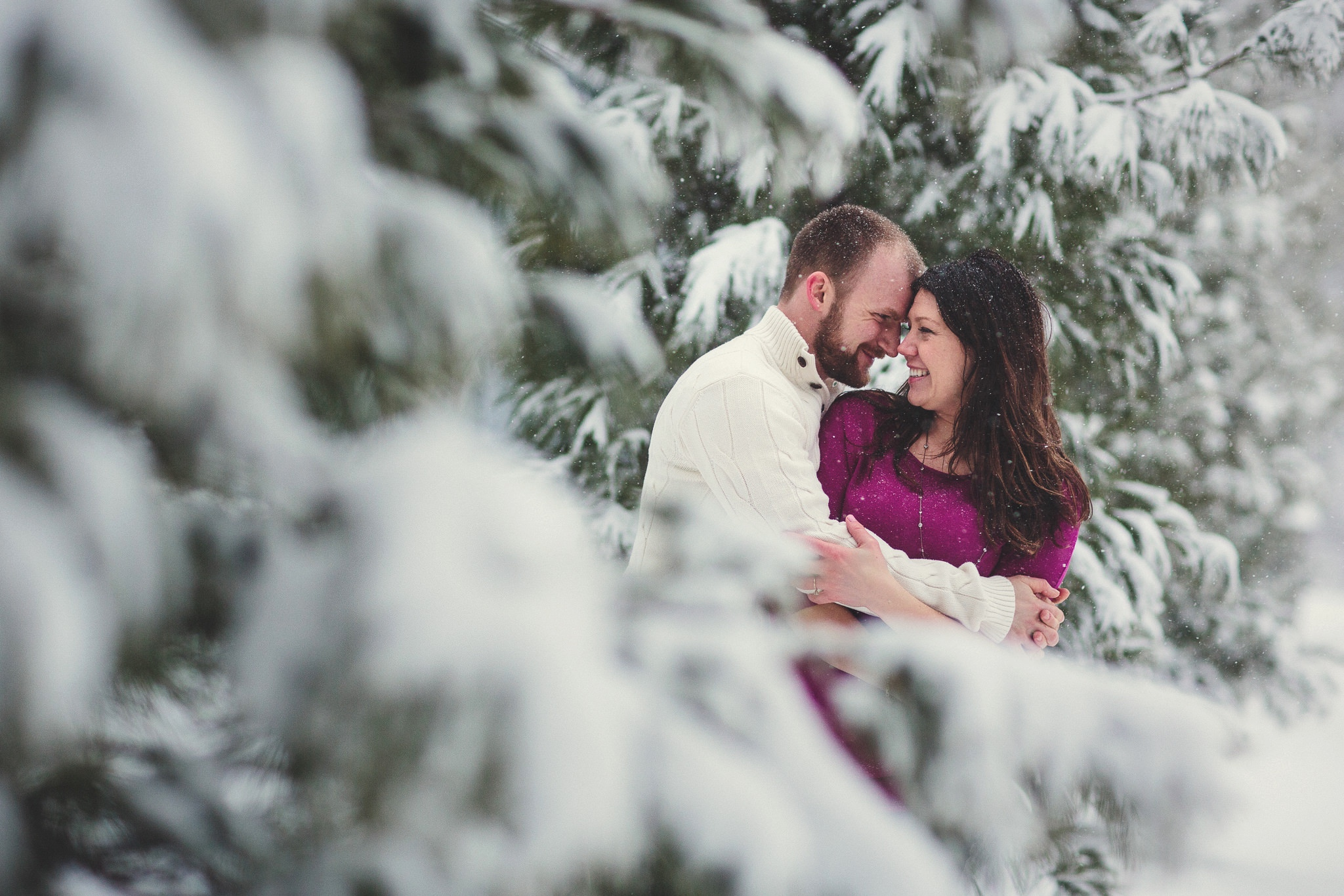 Tiffany and Zach's snowy engagement shoot.
