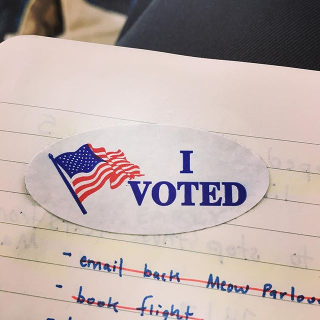 the day is long today. plenty of time to go to a baptist church or a 60s-style administrative building and FILL OUT A SCANTRON. even if you didn't think you would a second ago. even if you think you're unprepared—literally DM me, i will send you links, i will be your election day alexa.  my NC friends: • vote @repadams (district 12) and @kathymanningnc (district 13), — yes, very Hunger Games indeed — both endorsed by @equalitync to fight for the LGBTQ community. • #nixallsix dishonest constitutional amendments on the ballot by voting AGAINST  GO FILL IN TINY OVALS and send a message to the tiny white supremacist/sexual predator in the Oval Office.