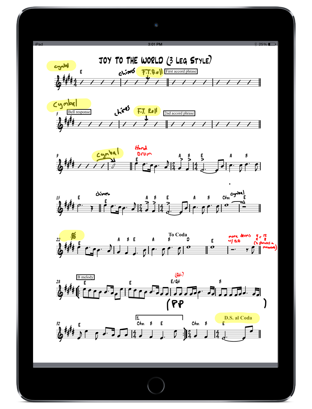 Score View with Annotations