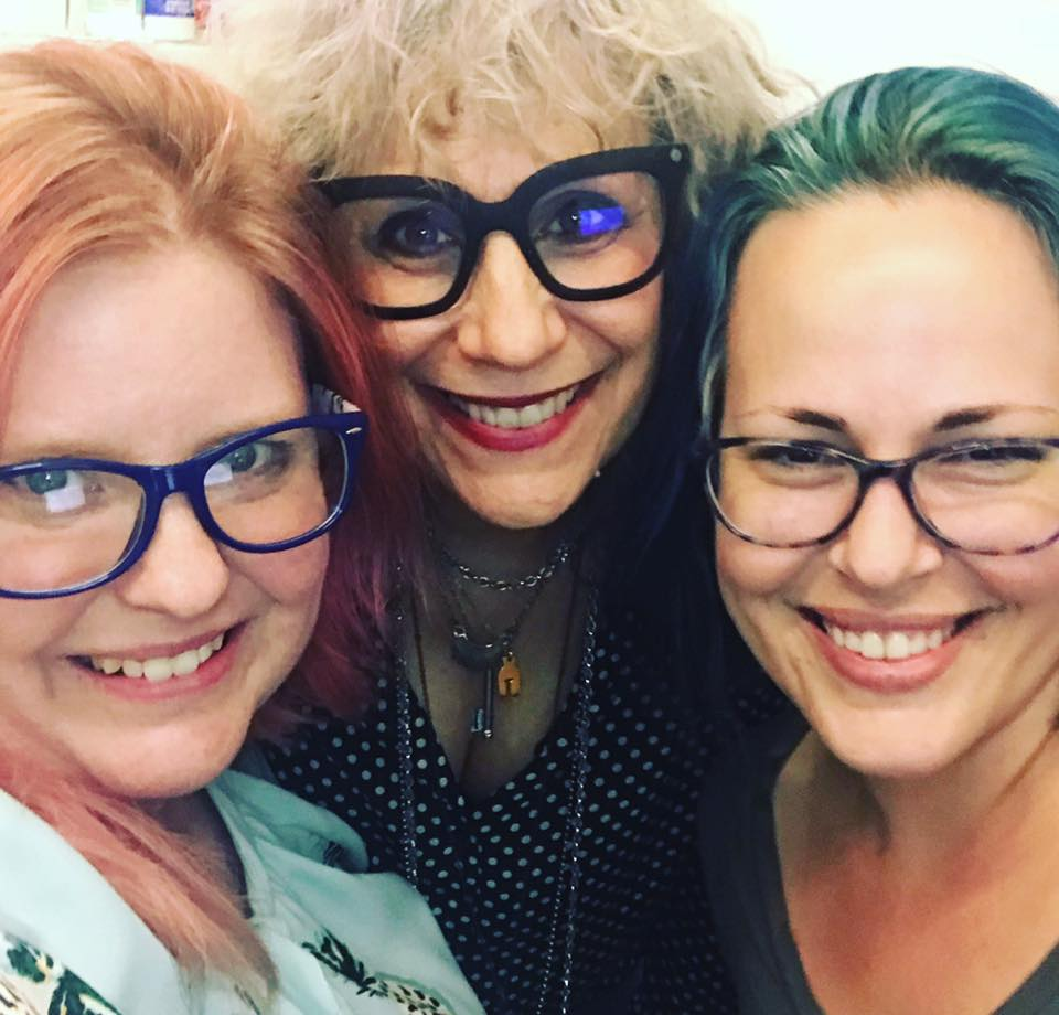 Working on some video coaching on site in New York City with Lizz Winstead (the co-creator of The Daily Show) and her Exec Producer, Kat (clients...and now friends!).