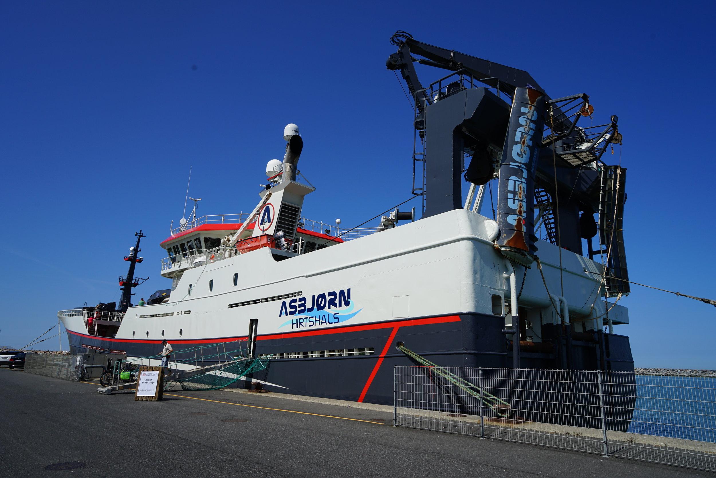 HG 265 Asbjørn har en længde på 75, 4 meter og blev bygget i 2008