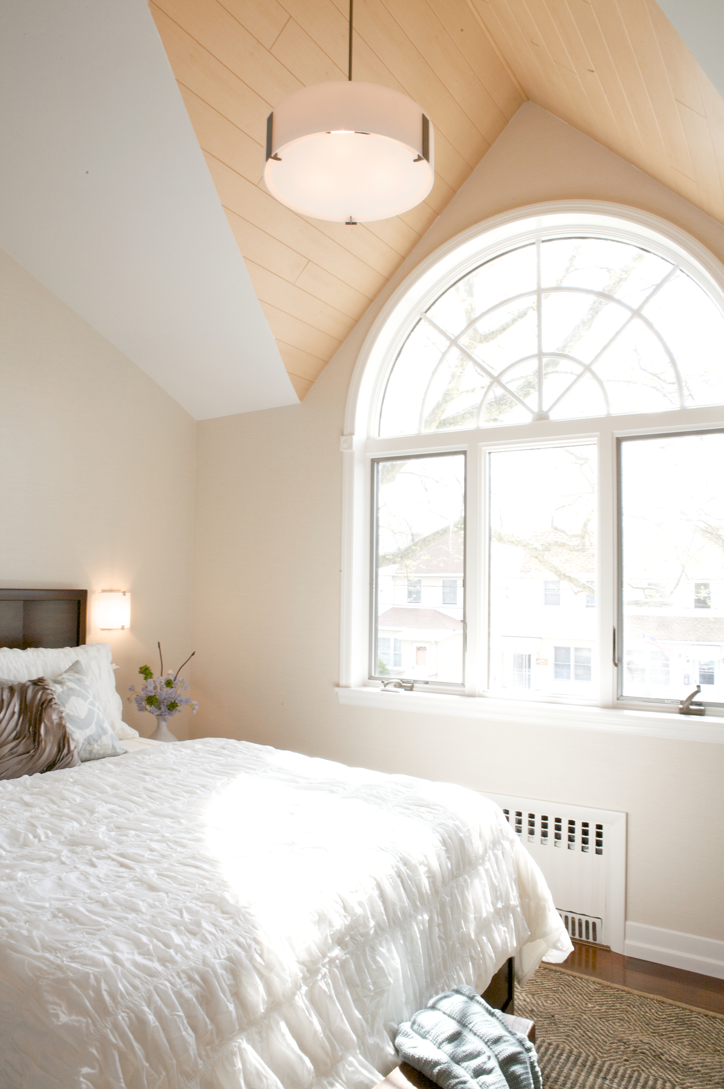 """""""Brooklyn interior design project: master bedroom decor and ceiling design"""""""