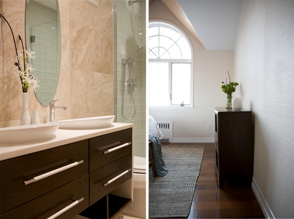 """Brooklyn interior design project: master bedroom decor and master bathroom renovation"""