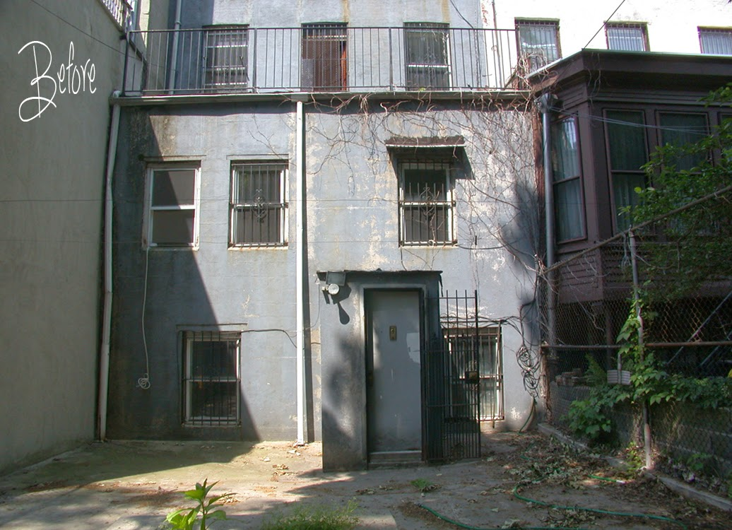 Before any renovation of any kind, the back of the house looked like this.