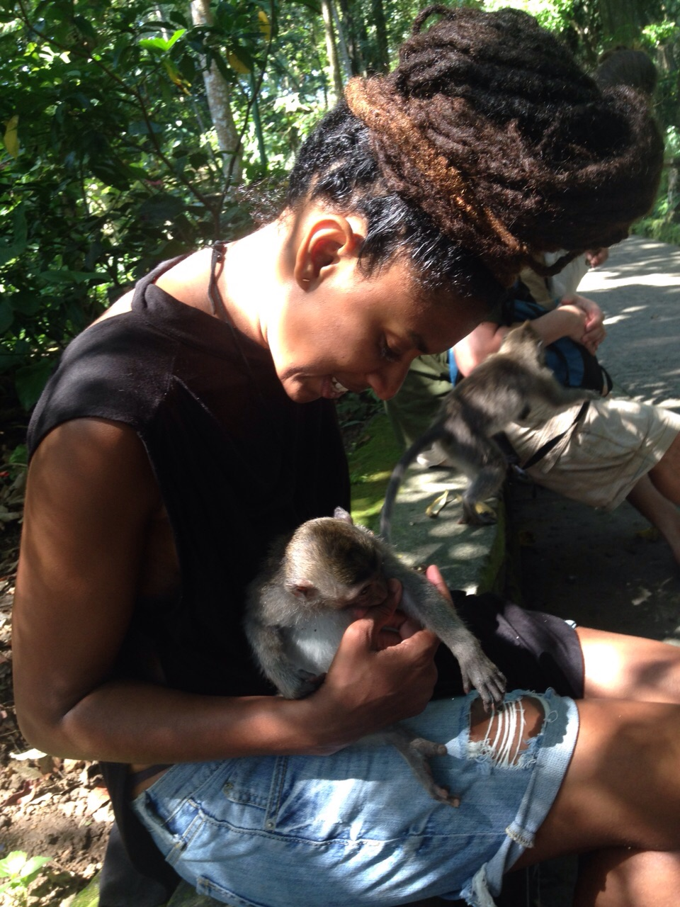 3. Interacting with monkeys at Monkey Forest