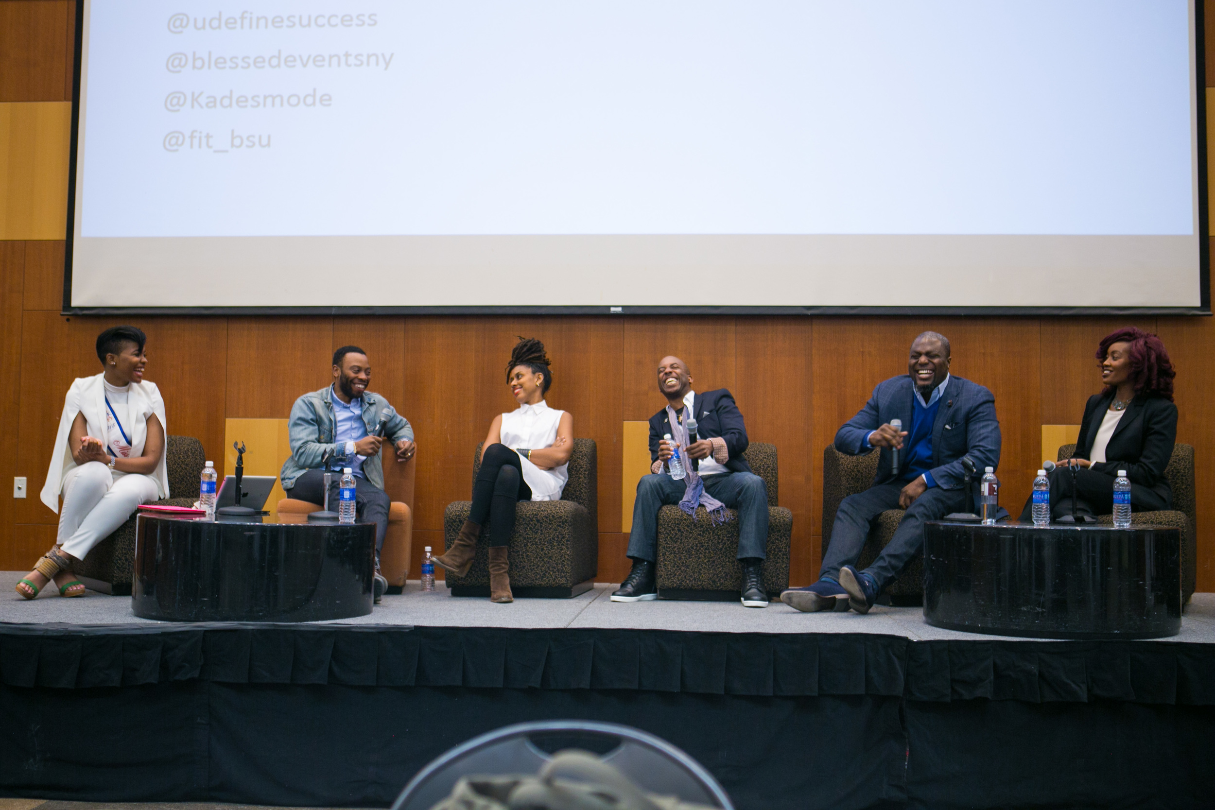Left to Right: Moderator -Kade Henderson (Miss Black America New York), David Hamilton (Grey Advertising), Robert Norman (Planet Brooklyn Academy), Tony Forte (Silverspoon Foundation) and Jamila Johnson (Blessed Events).Source: Fashion Institute of Technology