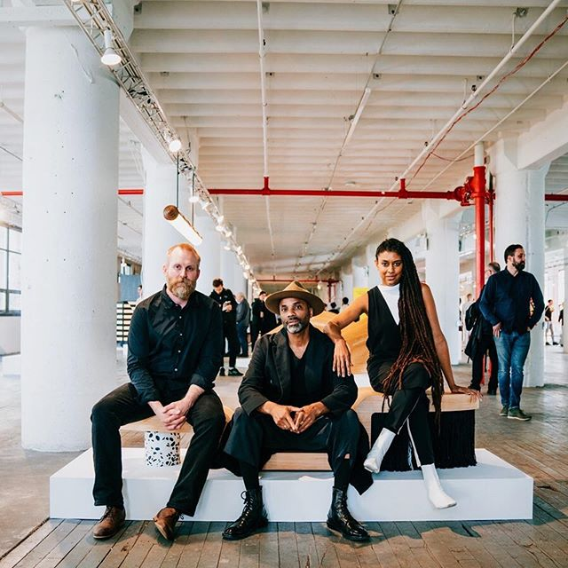 THE DESIGNERS: Creating an object without a client agenda or site specificity, solely for public consumption and appraisal was an intriguing experience. An experience made all the better via a successful collaboration with Mat of @bellboynewyork 👊🏾 . . . Shout out to concrete genius @remikconcrete and textile artist @liddell 🙏🏾 . . Last day to view the exhibit. Image via @industrycity ・・・ #nycxdesign  #interiordesign #interiorinspiration  #interiors  #design  #deco  #interiorstyle  #interiorlovers  #interiorinspiration  #style  #minimal  #efficientlybeautiful  #simplicity #longevity #mindful #ishkadesignsinteriors  #brooklyndesigners  #interiordesigners