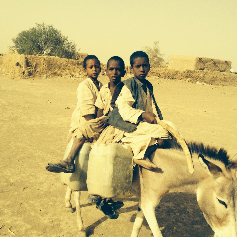 Children delivering water, Eastern Sudan