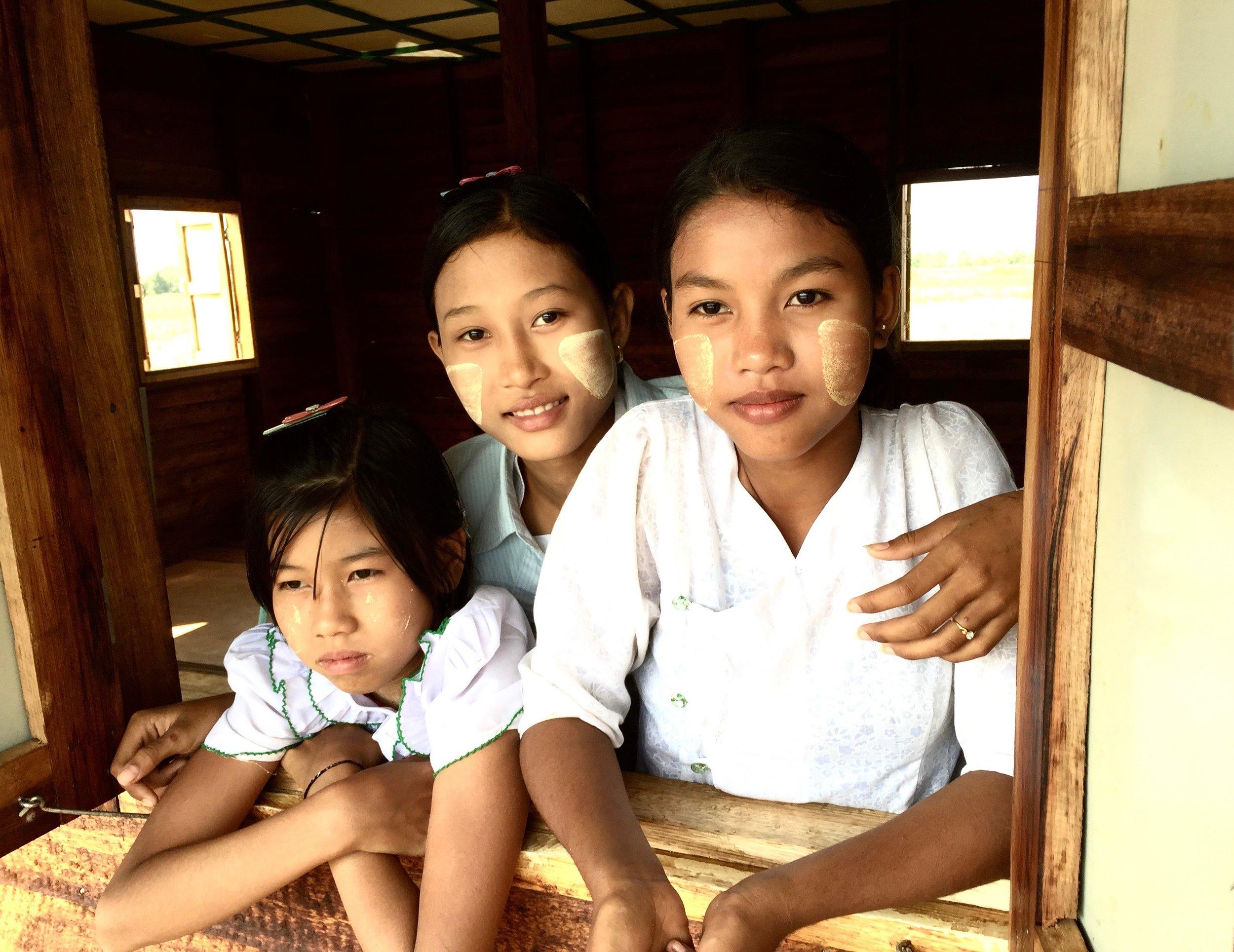 School children in the Irrawaddy Delta, Myanmar. Client: Helping the Burmese Delta.