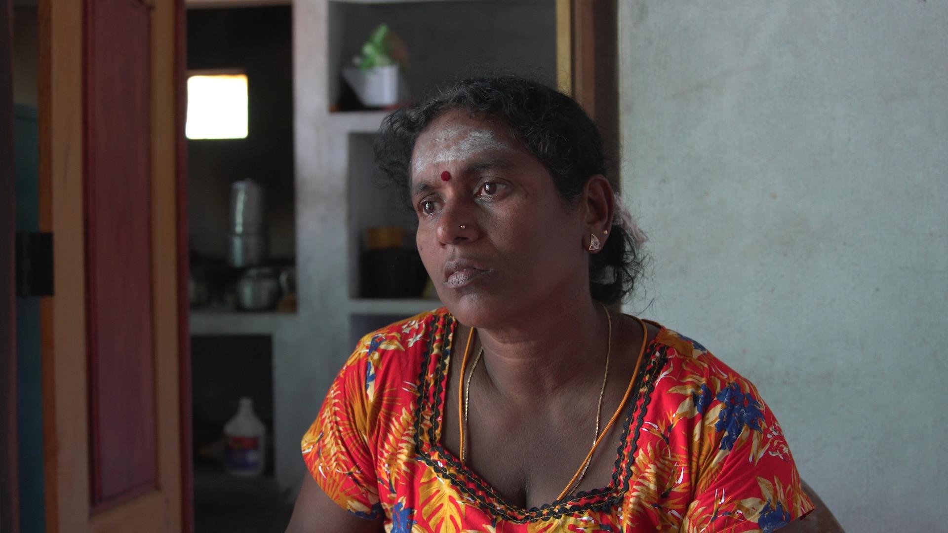 Vasuki at home in Point Pedro, Jaffna district