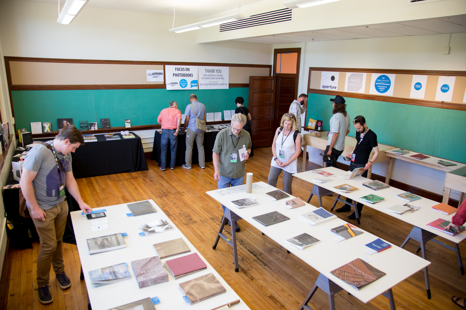 Focus on Photobooks exhibit at the Jefferson School African American Heritage Center.  Photo © Brian Lewis