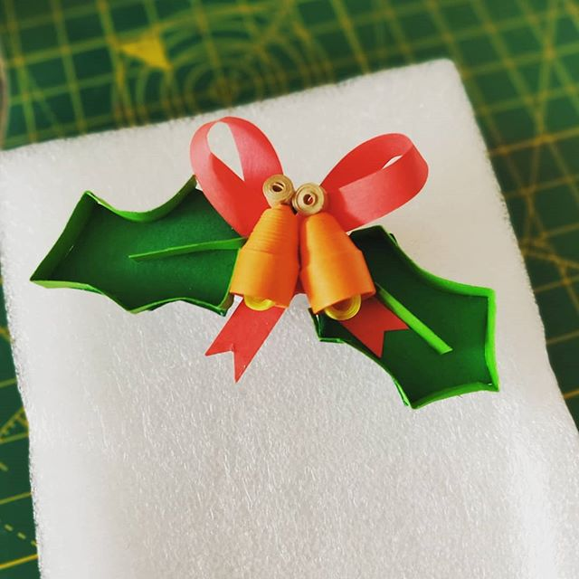 Trying out some 3d techniques and preparing for Christmas!  New line of Christmas tree decor will be out soon! #Christmas #quilling #quillingart #papercraft #ilovepaper #ireland #arteempapel #papel #art #christmasinjuly