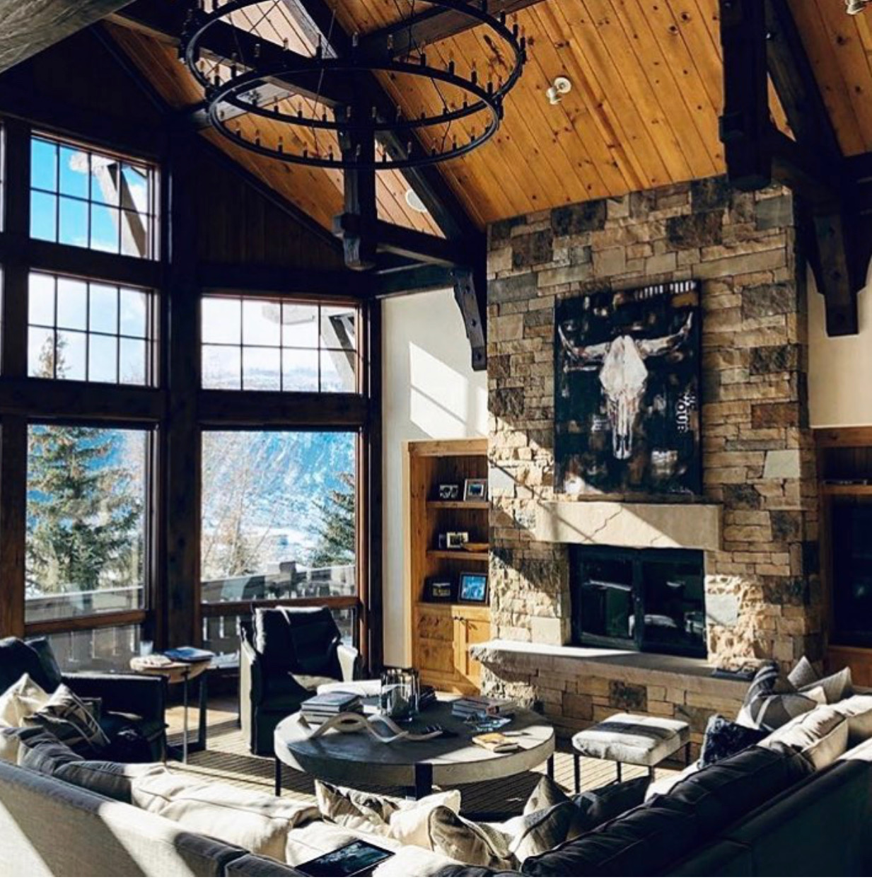 a collage bull skill presides in an incredible Colorado home