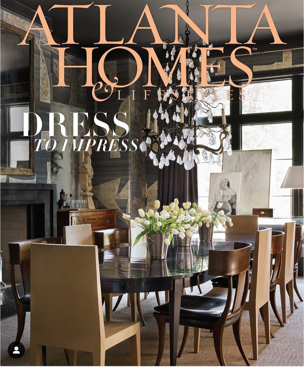 MIX MASTERS, The 2019 Southeastern Designer Showhouse offered a harmonious blend of masculine and feminine aesthetics.  Written by Jennifer Boles and Jeanne Lyons Davis, Principal Photography by Emily Followill.  See full article at  Atlanta Homes & Lifestyles