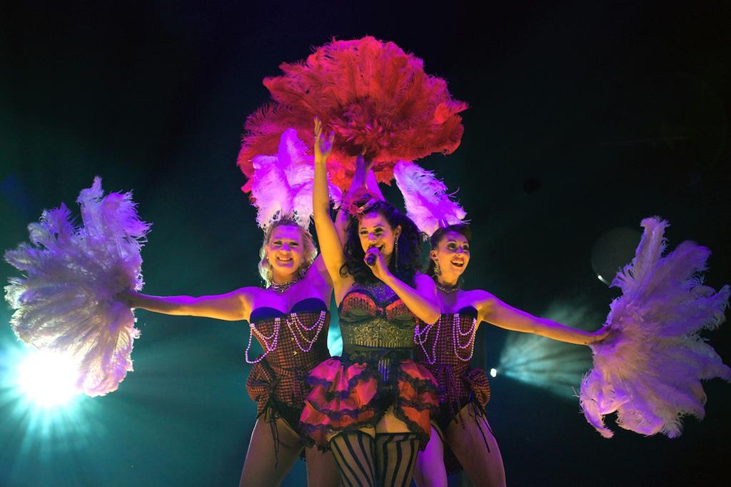 Showgirl fan danceand vocal revue, London Wonderground