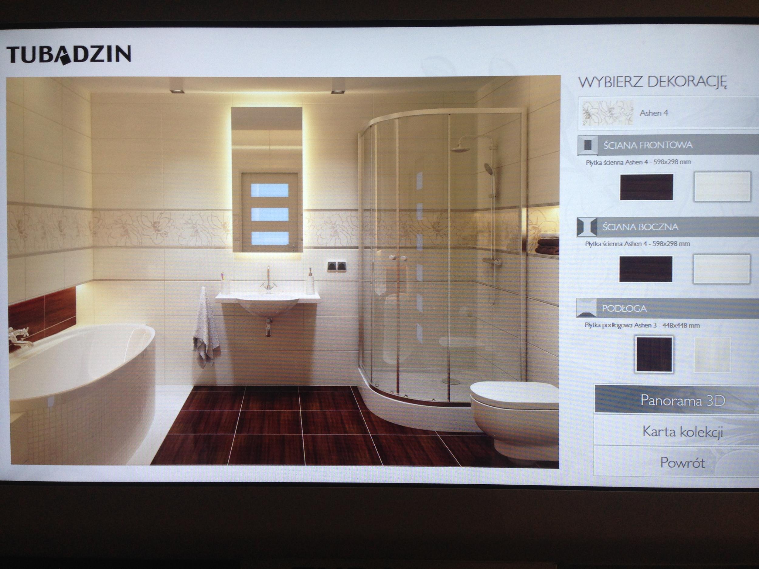 Szablon łazienki z prysznicem i wanną