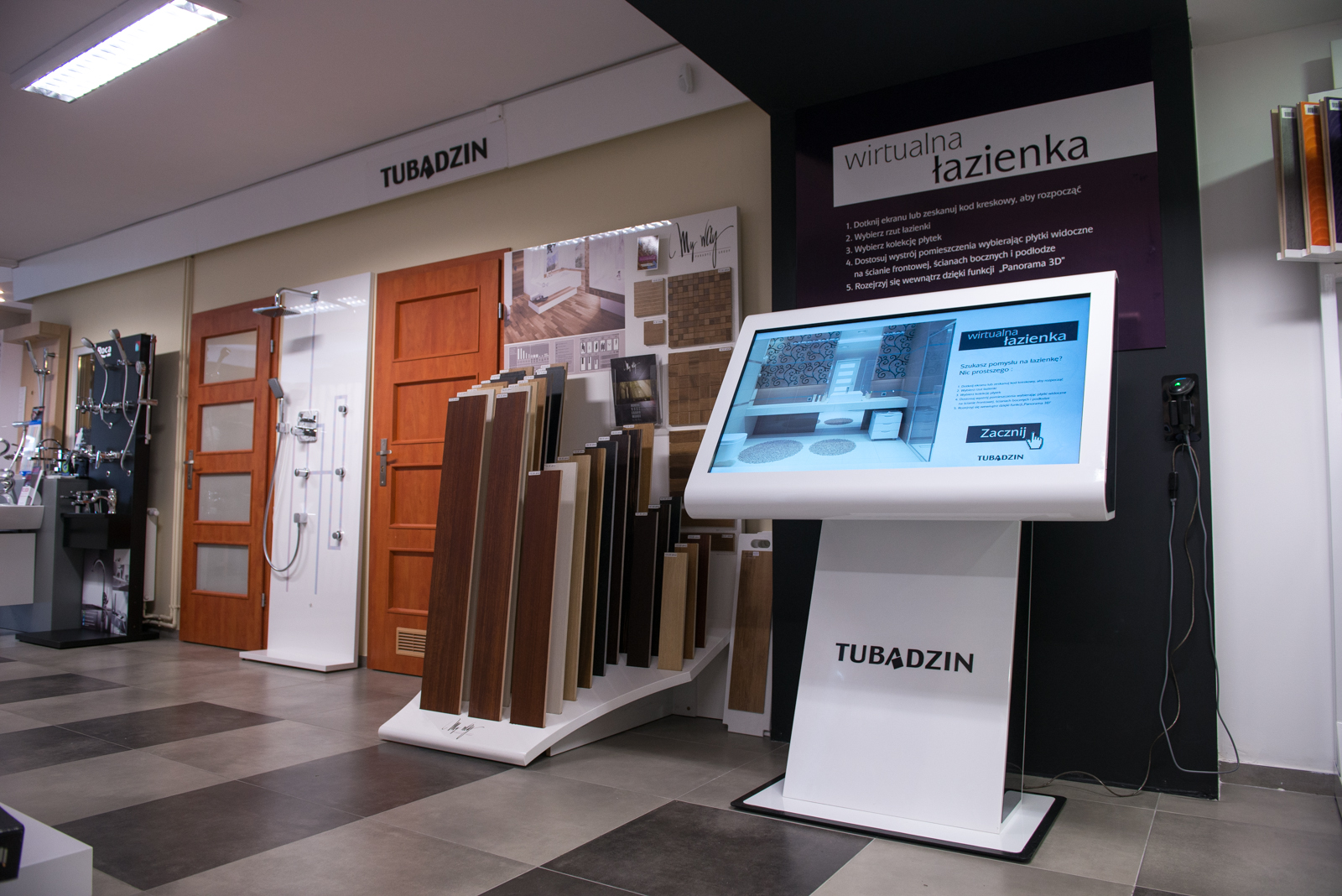 Kiosk multimedialny Tubądzin | Salon Łazienek Kamgres | Łódź
