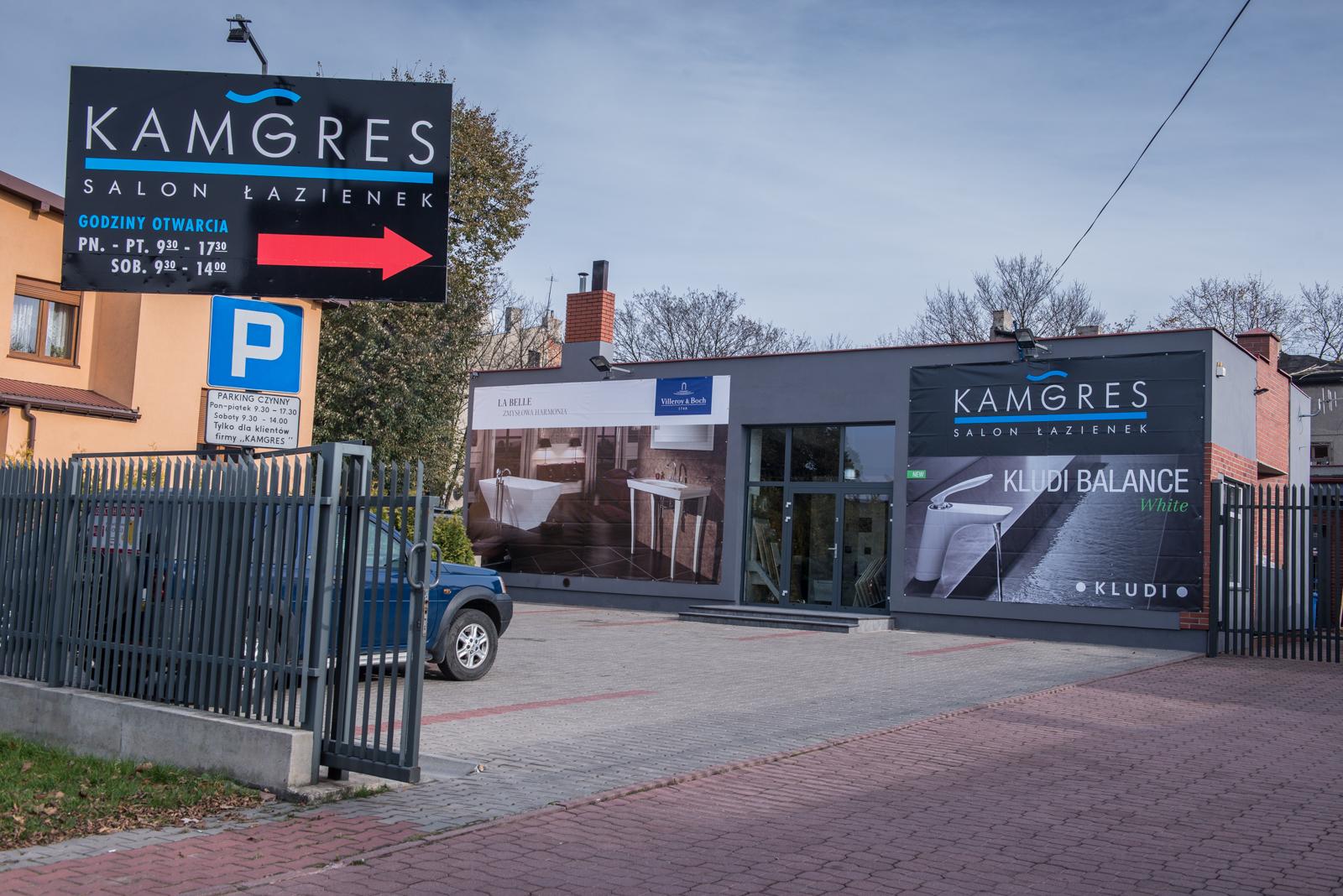 Parking dla klientów Salonu Łazienek Kamgres   Łódź