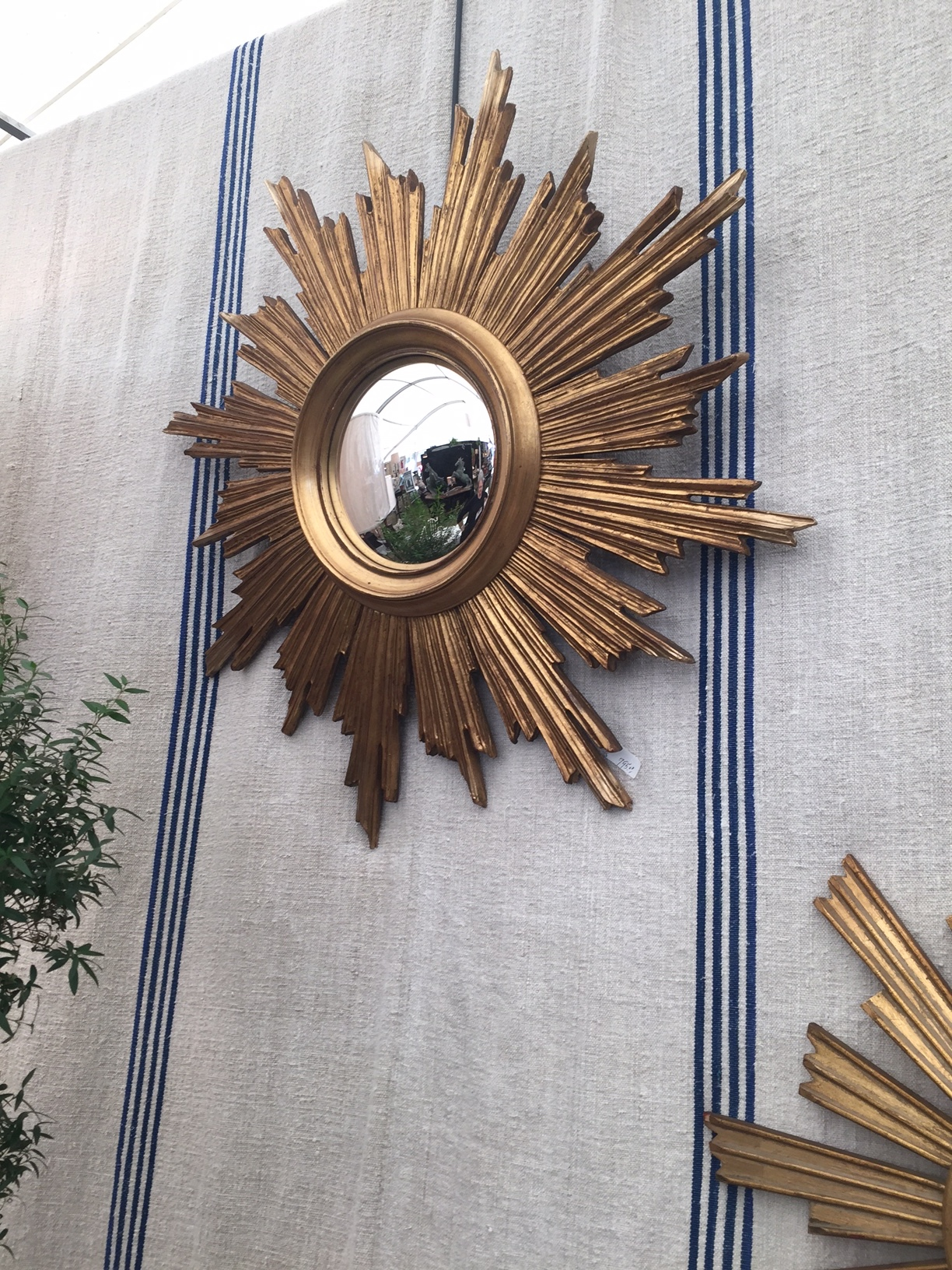 Brought some sunburst mirrors back with me. Could this be the right mirror for you? Large mirror and small mirror available at  www.tiffanyfarhadesign.com/shop/