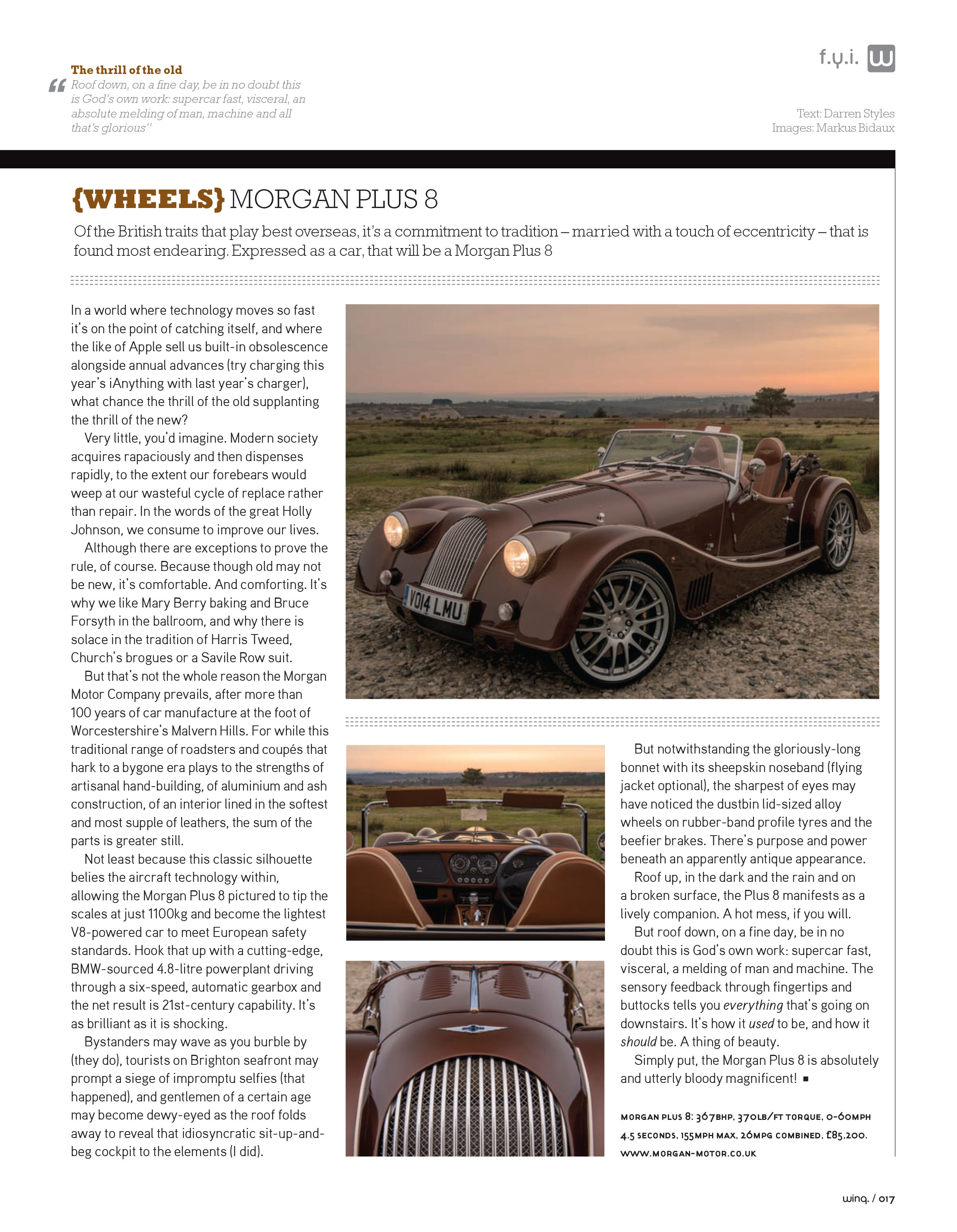 Morgan Plus 8 article