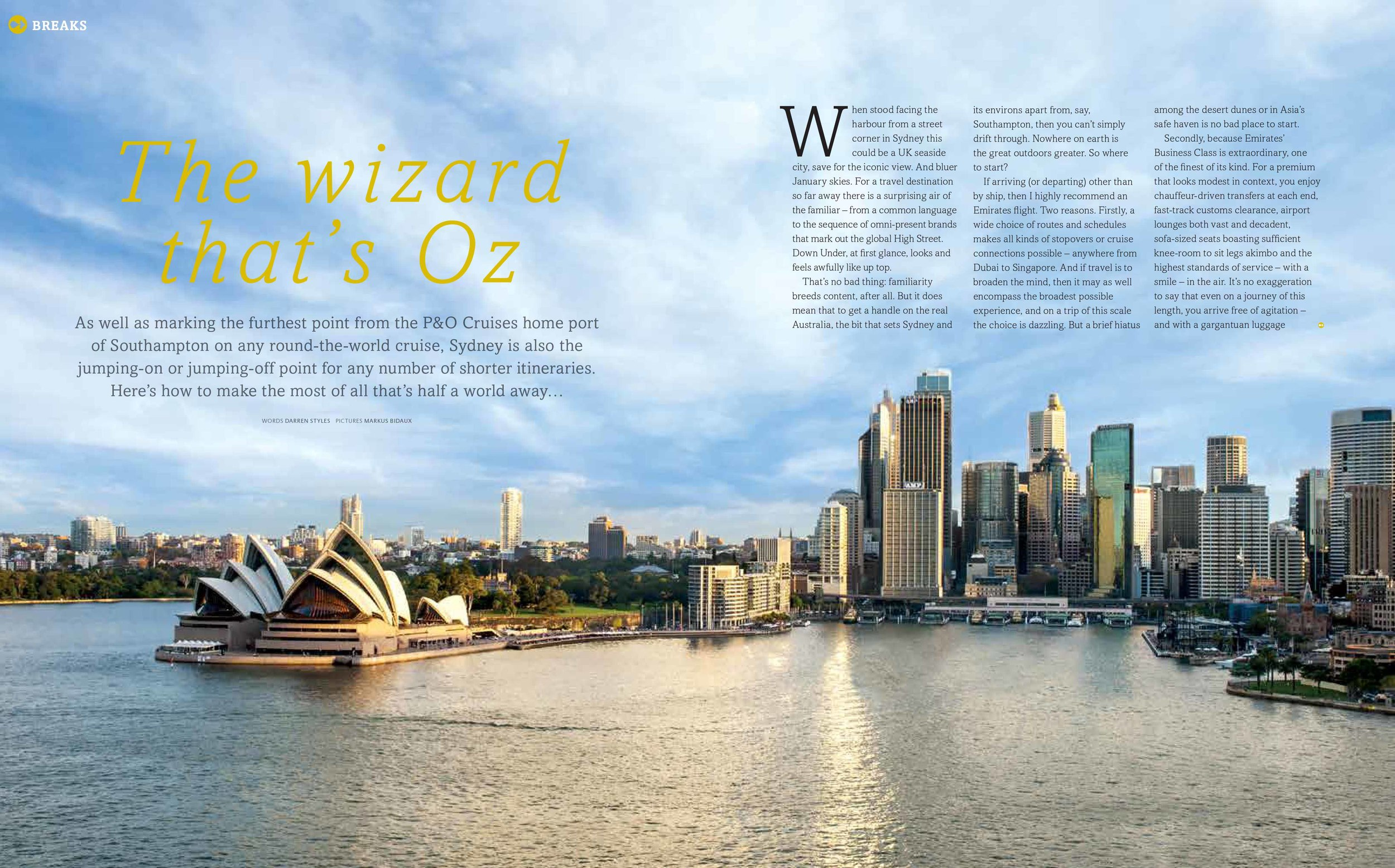 Australia P&O magazine