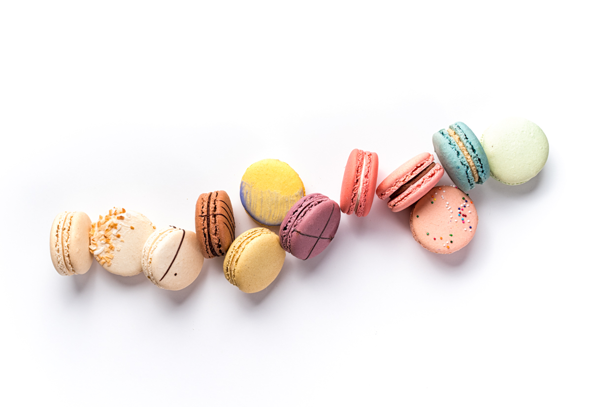 Order Macarons - Choose from 12-15 Core and Seasonal Flavors.
