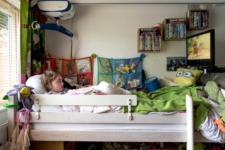 Stevie in her room