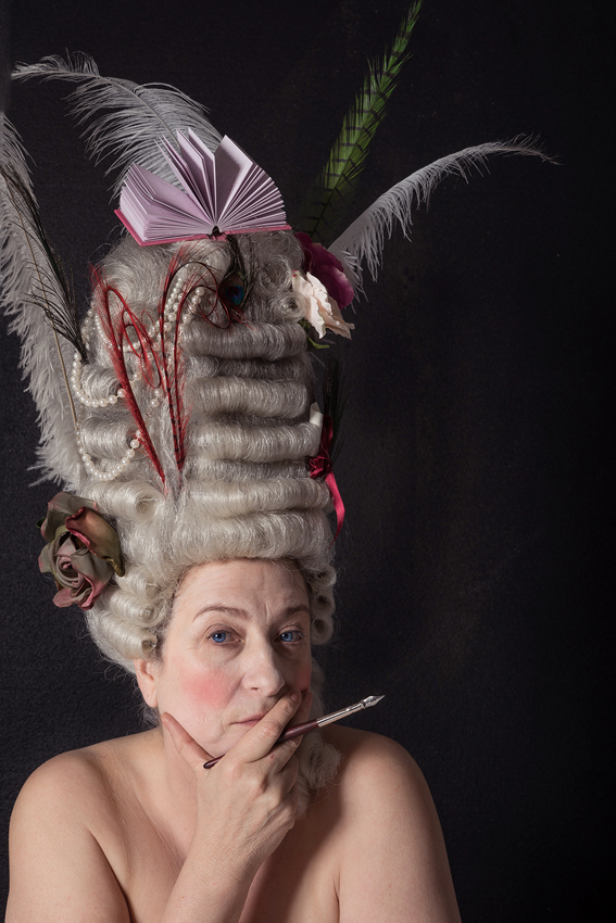 Caroline Quentin as Fanny Hill, in Lamplighter Theatre's production The Life and Times of Fanny Hill