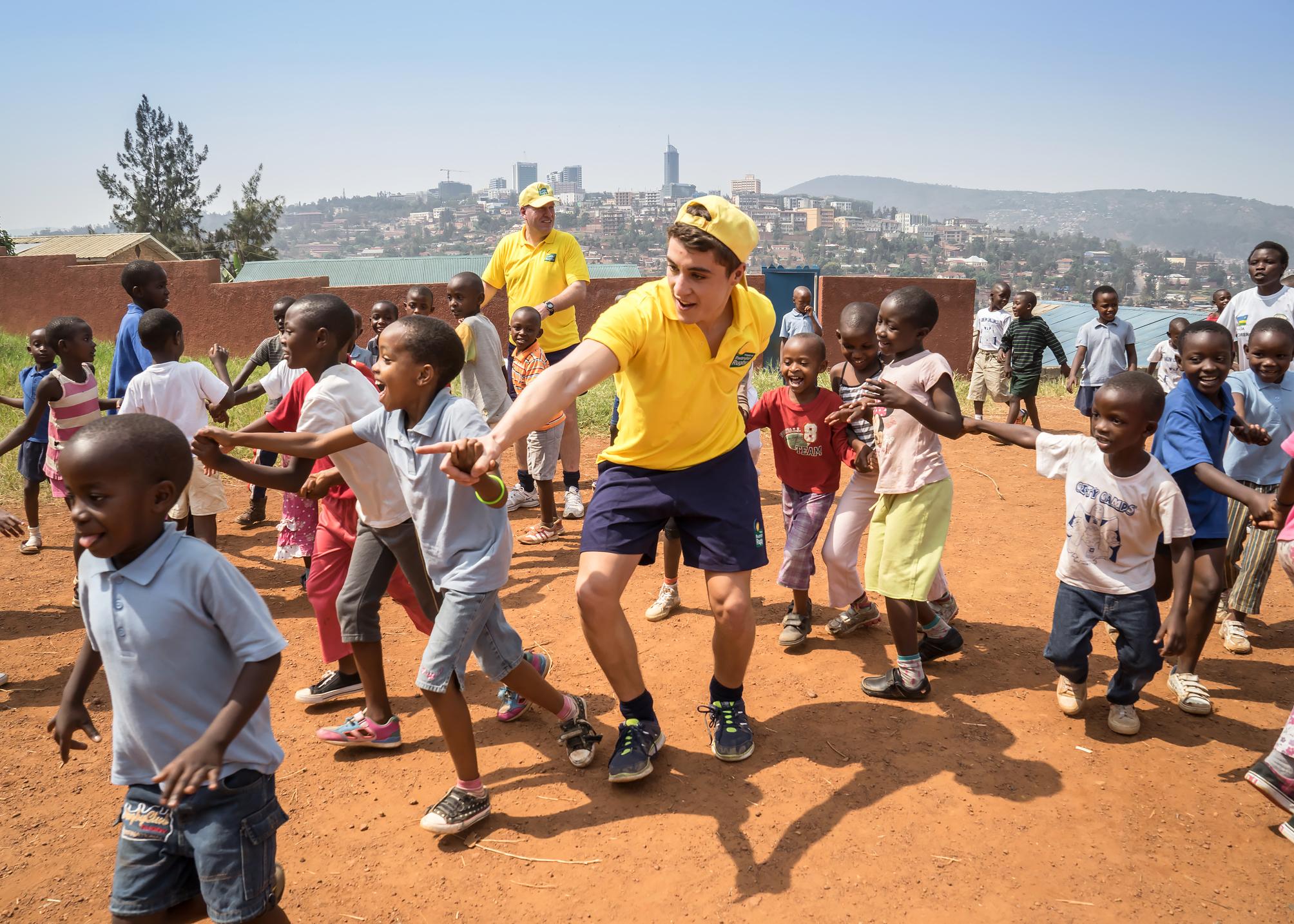 Coaching at Kinamba Project, Kigali