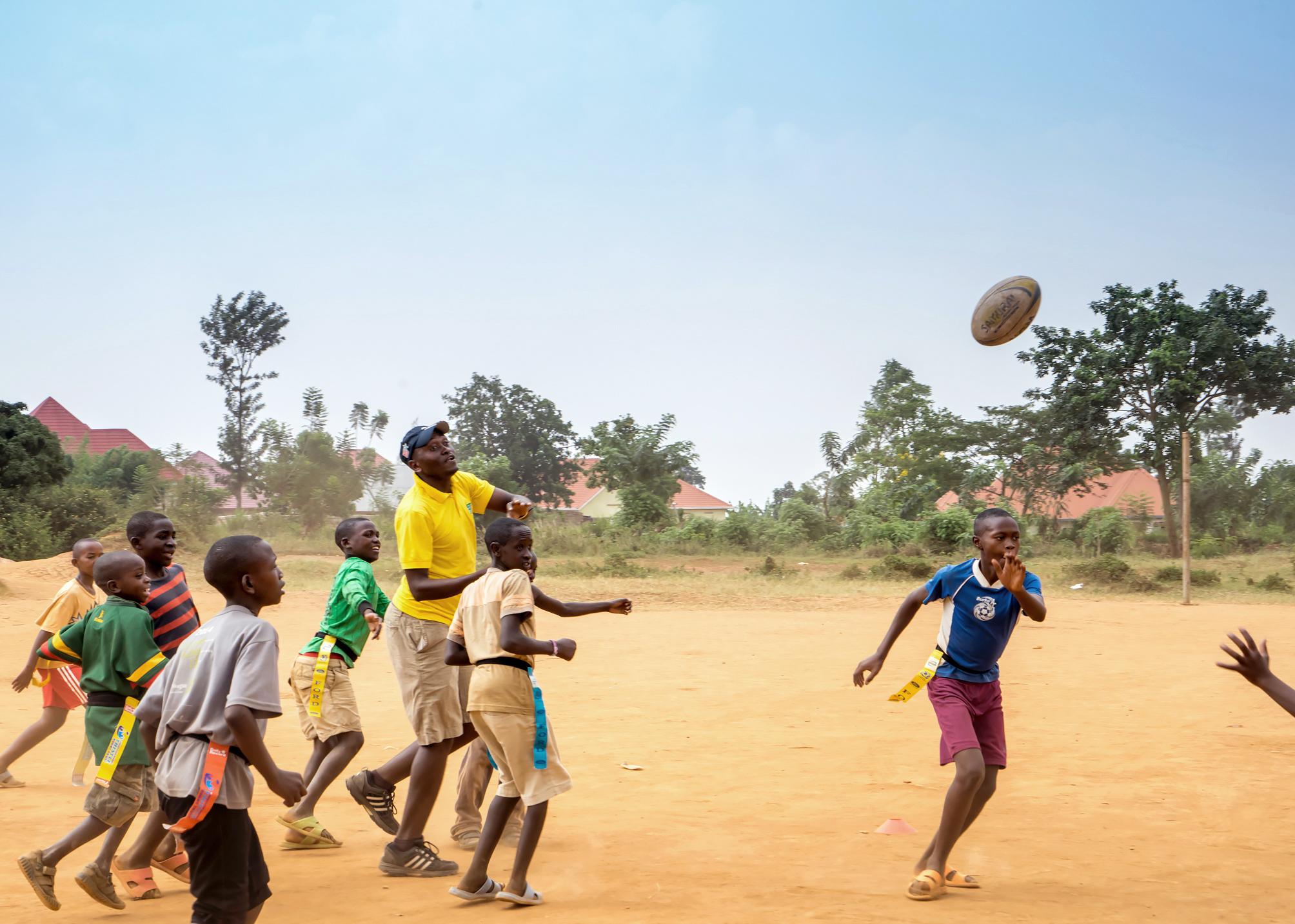 Coaching session, Rwandan Orphans Project, Kigali