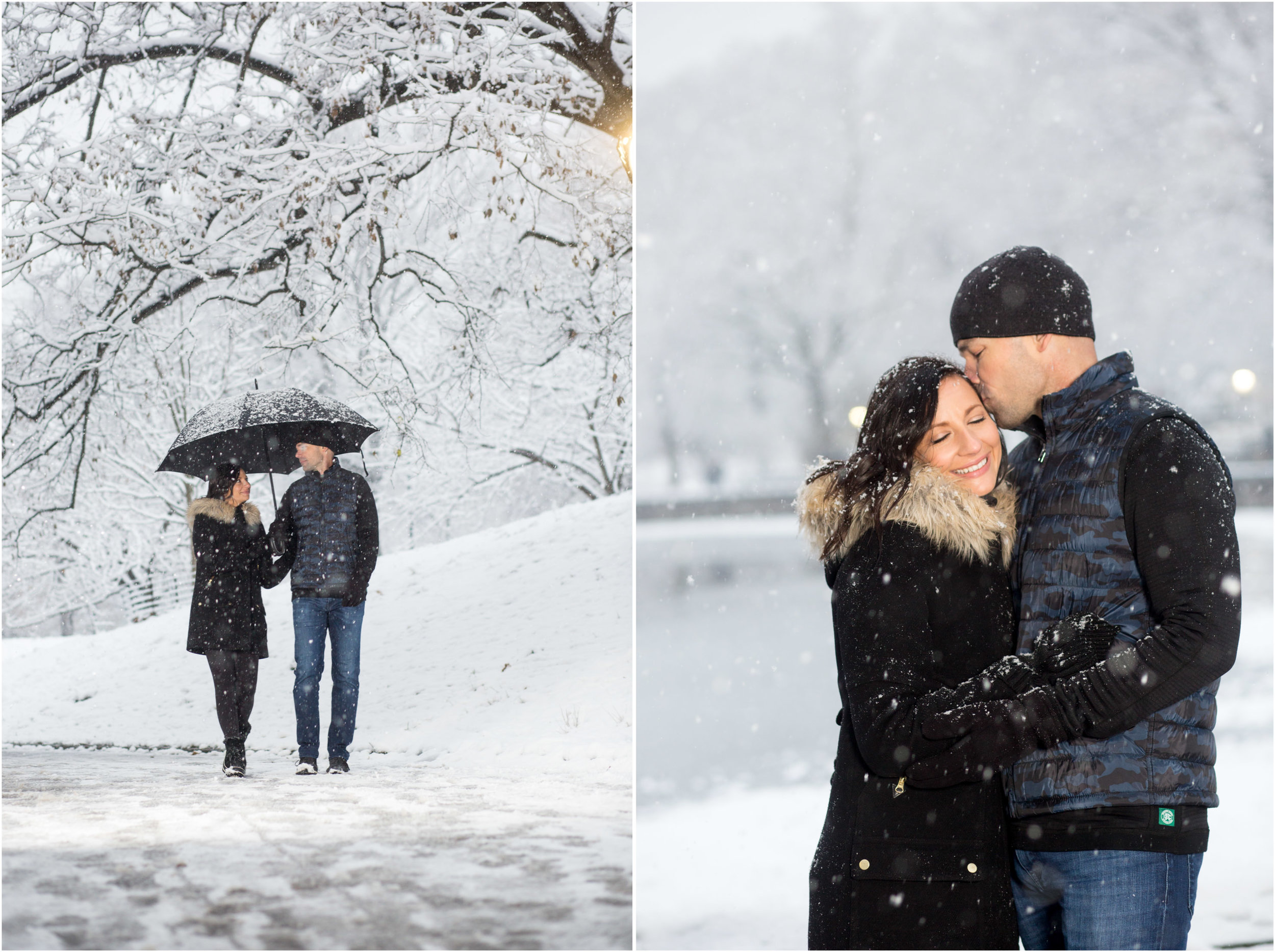 Snowy Central Park Engagement Session NYC