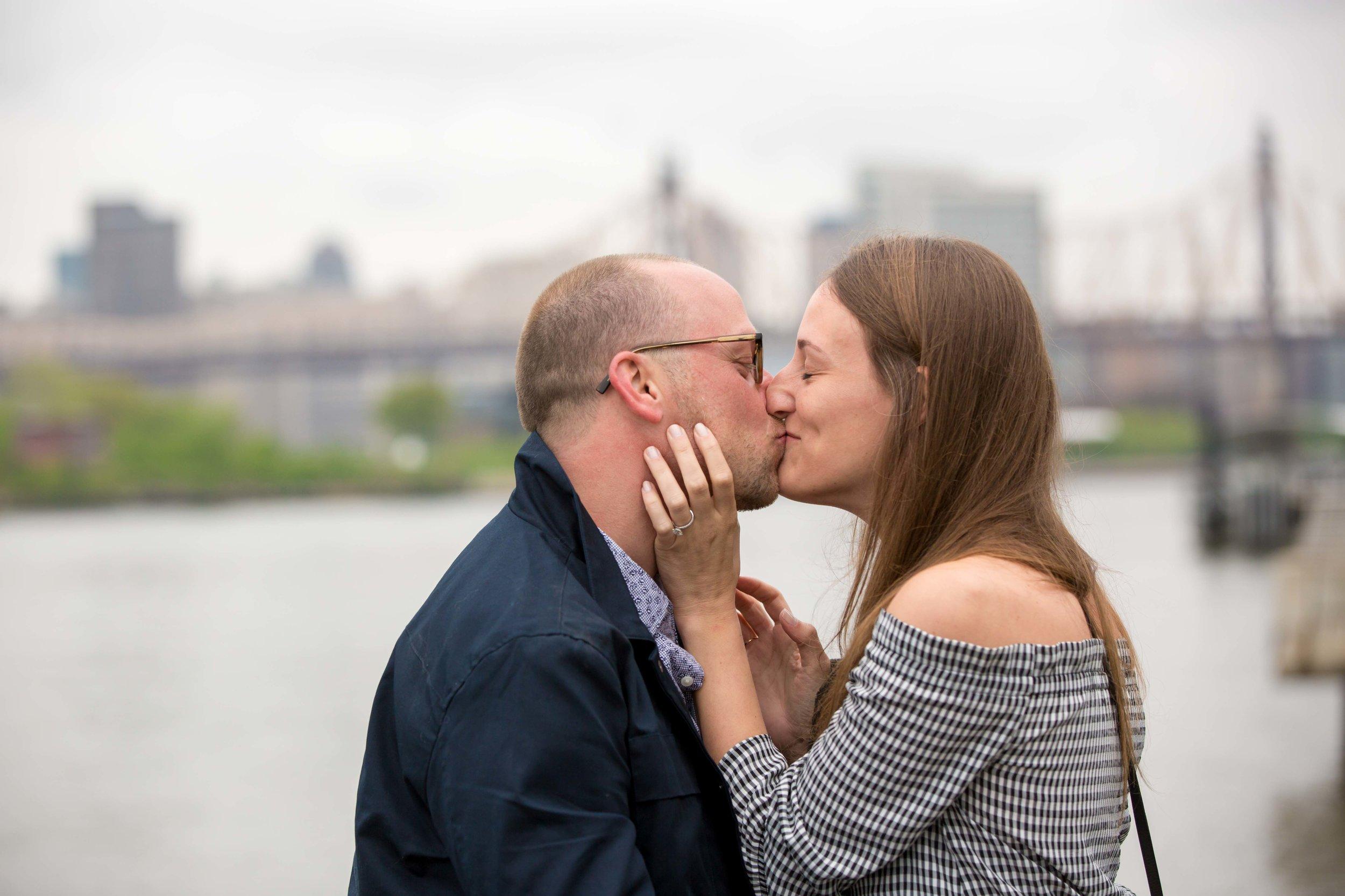 NYC Proposal Gantry Plaza State Park Engagement Photo Session Shoot Wedding Photographer