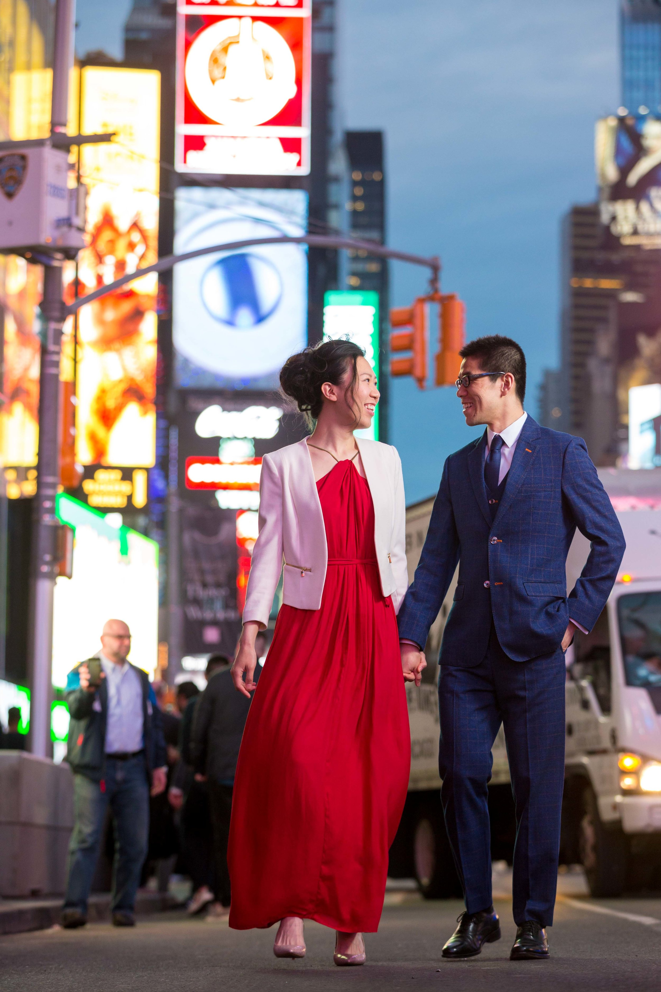Times Square Engagement Session Photos Shoot NYC Wedding Photographer